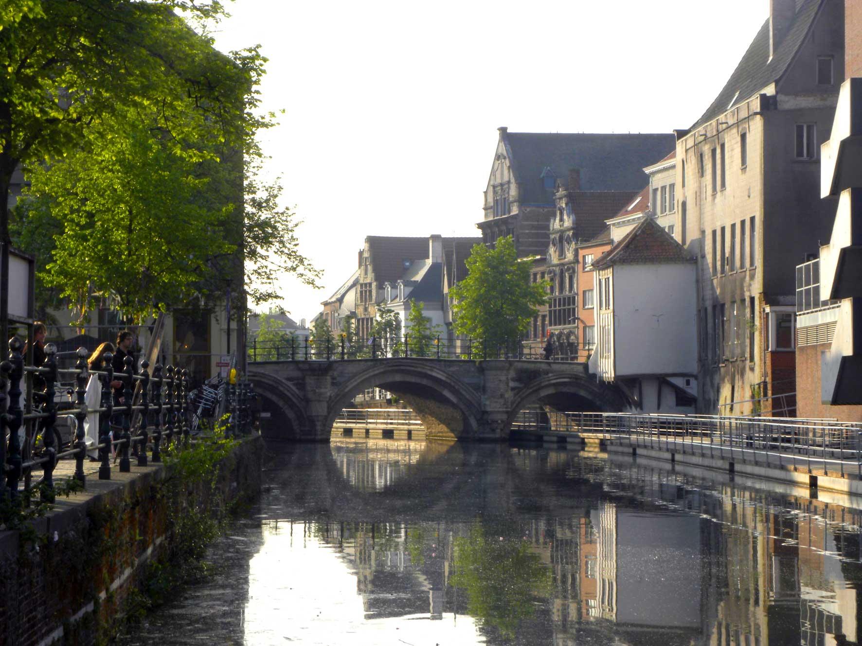 Rondvaart op de Binnendijle in Mechelen - Hoogbrug