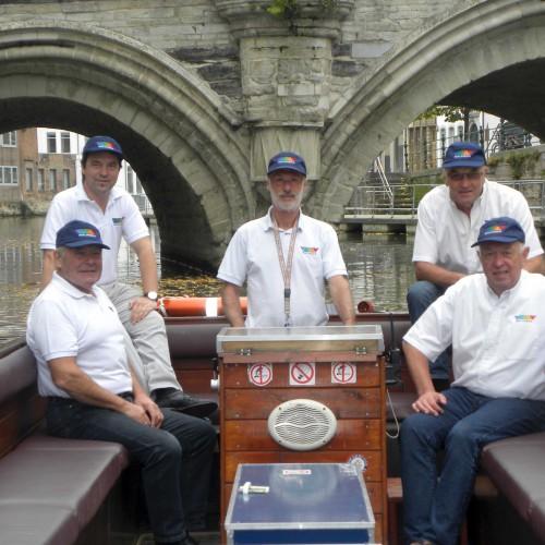 Het Malinska-team op de boot