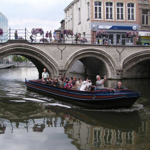 Rondvaart op de Binnendijle in Mechelen - Grootbrug