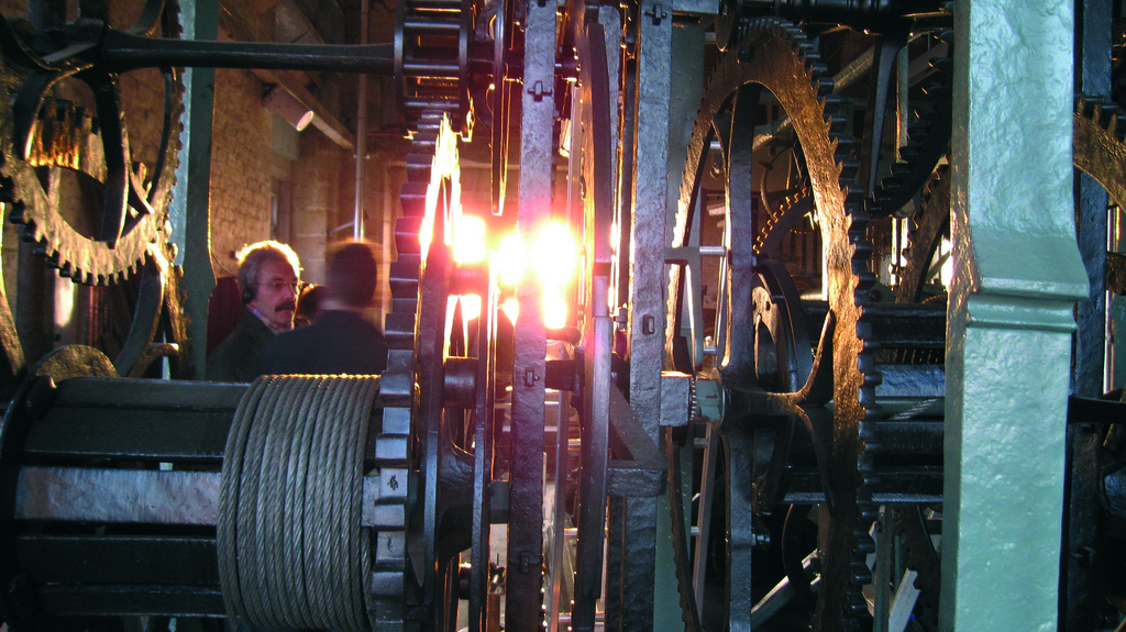 Het raderwerk in de Sint-Romboutstoren