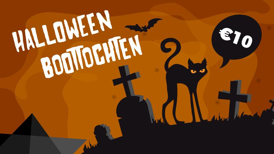 Halloween-boottochten op de Dijle in Mechelen